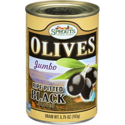 Sprouts Jumbo Ripe Pitted Black Olives
