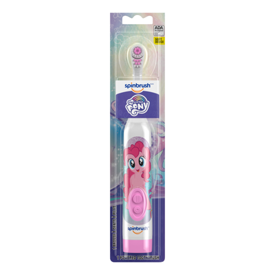 Spinbrush My Little Pony Kid'S  Electric Battery Toothbrush, Soft, 1 Ct, Character May Vary