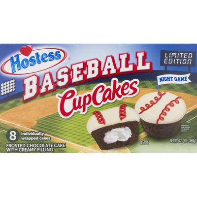 Hostess Baseball Cupcakes Chocolate - 8 CT