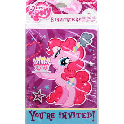 My Little Pony Invitations, with Envelopes