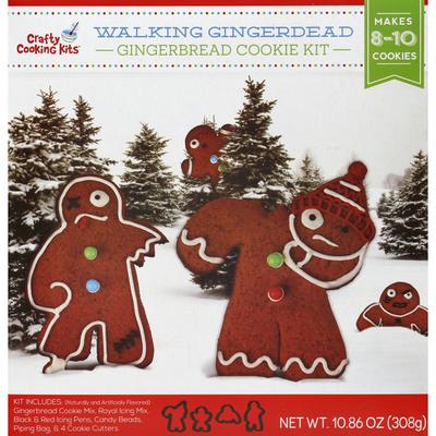 Crafty Cooking Kits Cookie Kit, Gingerbread, Walking Gingerdead