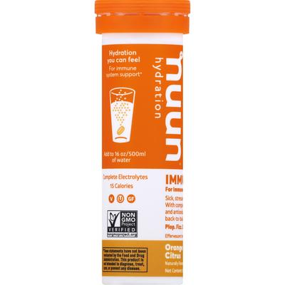 Nuun Hydration Tablets, Immunity, Orange Citrus