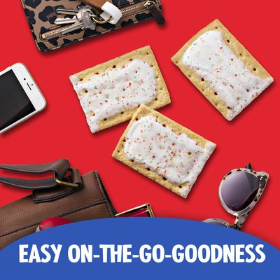 Kellogg's Pop-Tarts Toaster Pastries, Breakfast Foods, Baked in the USA, Frosted Strawberry