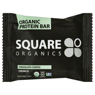 Square Organics Protein Bar, Organic, Chocolate Coated Crunch