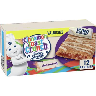 Pillsbury Toaster Strudel, Cinnamon Toast Crunch, Frozen Pastries, 12 Count