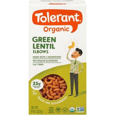 Tolerant Organic Green Lentil Elbows Pasta