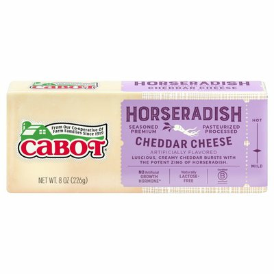 Cabot Pasteurized Process Cheddar Cheese Horseradish