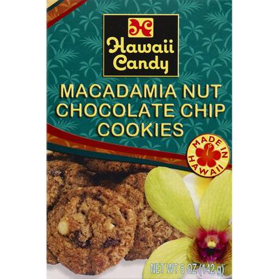 Hawaii Candy Cookies, Macadamia Nut Chocolate Chip