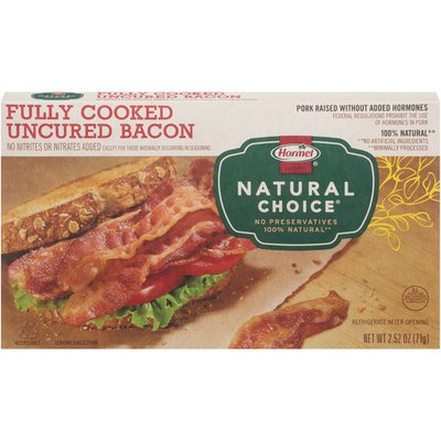 Hormel Natural Choice Fully Cooked Uncured Bacon