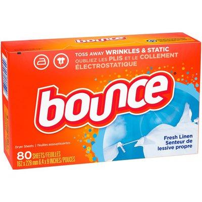 Bounce Fabric Softener Dryer Sheets, Fresh Linen