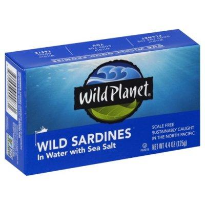 Wild Planet Sardines, Wild, in Water with Sea Salt