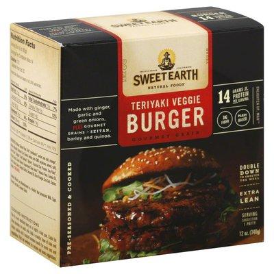Sweet Earth Veggie Burger, Teriyaki, Extra Lean