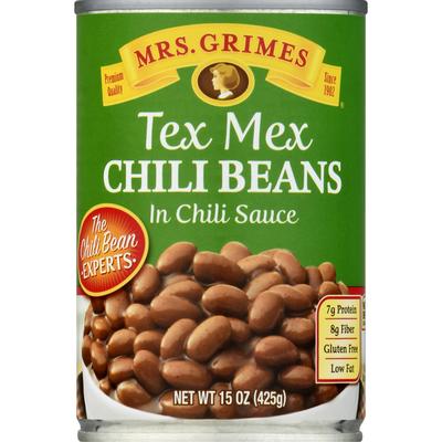 Mrs Grimes Chili Beans, in Chili Sauce, Tex Mex