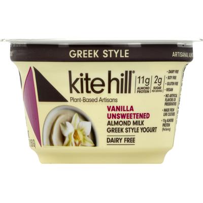 Kite Hill Yogurt, Dairy Free, Almond Milk, Vanilla, Unsweetened, Greek Style
