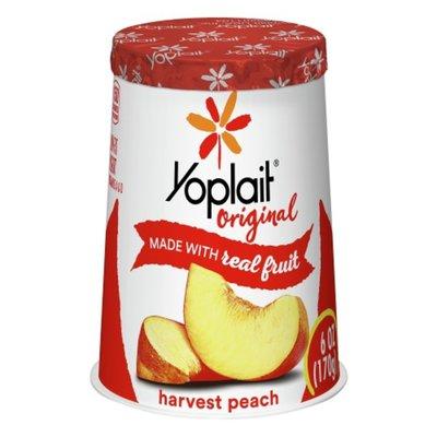 Yoplait Yogurt, Low Fat, Harvest Peach, Tub