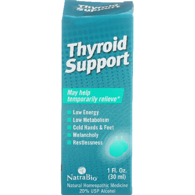 NatraBio Thyroid Support Natural Homeopathic Medicine