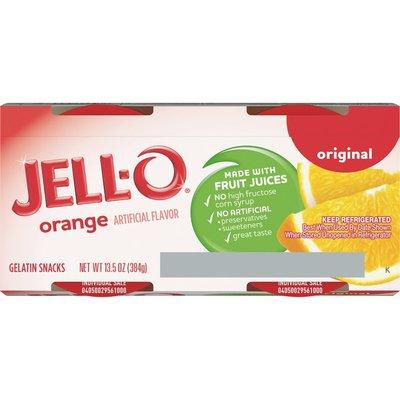 Jell-O Original Orange Ready-to-Eat Gelatin Snacks