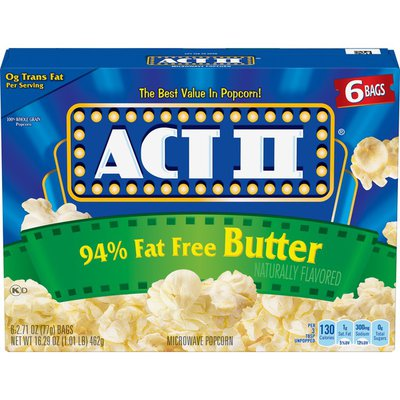 Act II Ninety Four Percent Fat Free Butter Popcorn