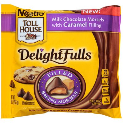 Toll House DelightFulls Milk Chocolate Morsels with Caramel Filling Filled Morsels