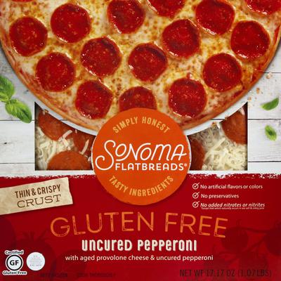 Sonoma Flatbreads Flatbread, Gluten Free, Thin & Crispy Crust, Uncured Pepperoni