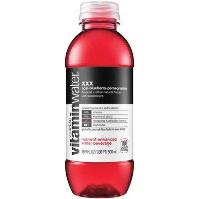 vitaminwater xxx, Electrolyte Enhanced Water W/ Vitamins, Açaiblueberrypomegranate Drink