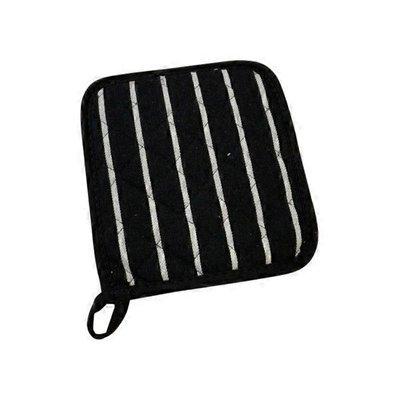 Now Designs Black Chef Stripe Pot Holder