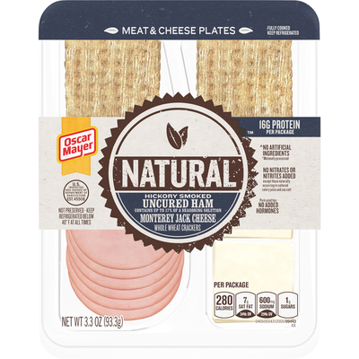 Oscar Mayer Natural Hickory Smoked Uncured Ham & Monterey Jack Meat & Cheese