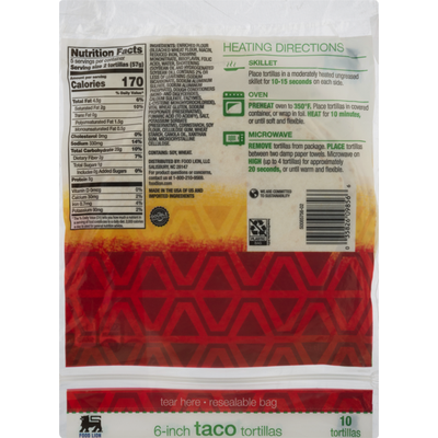 Food Lion Tortillas, Flour, Taco Size, Envelope