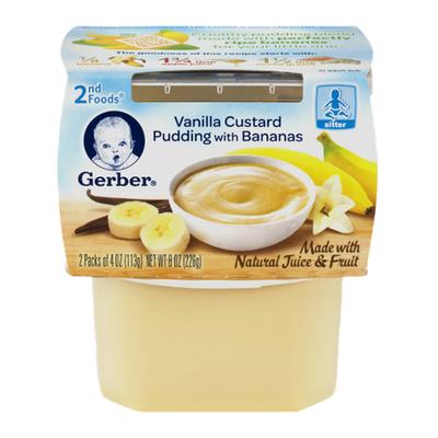 Gerber Vanilla Custard Pudding with Banana Baby Food
