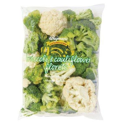 Wegmans Food You Feel Good About Cleaned and Cut Broccoli & Cauliflower