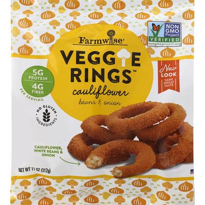 Farmwise Veggie Rings, Cauliflower, Beans & Onion