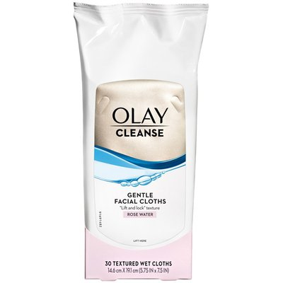 OLAY Gentle Facial Cleansing Cloths With Rose Water