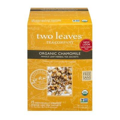 Two Leaves and a Bud Organic Chamomile Whole Leaf Tea Sachets - 15 CT