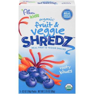 Plum Organics Shredz Rooty Blues Fruit & Veggie Snacks