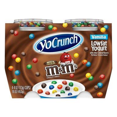 YoCrunch Lowfat Vanilla with M&Ms Yogurt