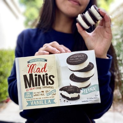Mad Mini's Vanilla Ice Cream Sandwiches