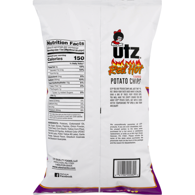 Utz Quality Foods Utz Potato Chips Red Hot