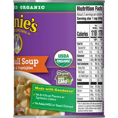 Annie's Meatball Soup with Pasta & Vegetables, Certified Organic, Non-GMO