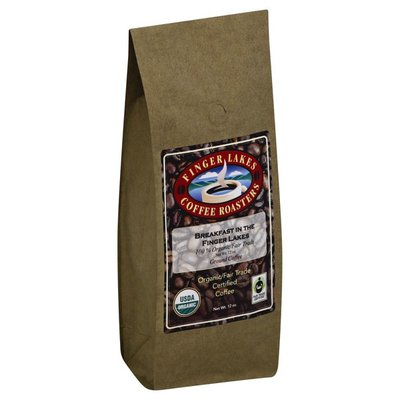 Finger Lakes Coffee Roasters Coffee, Organic/Fair Trade Certified, Ground, Breakfast in the Finger Lakes