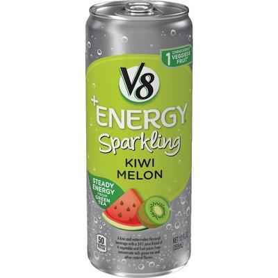 V8® Sparkling Healthy Energy Drink, Natural Energy from Tea, Kiwi Melon