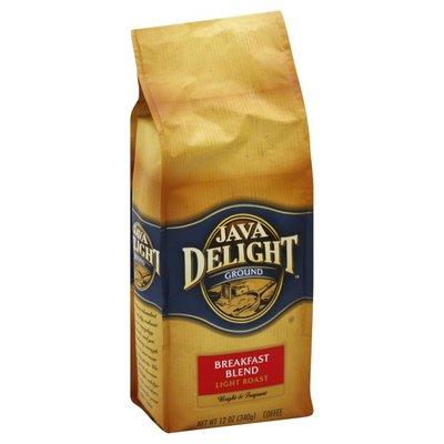Java Delight Coffee, Ground, Light Roast, Breakfast Blend