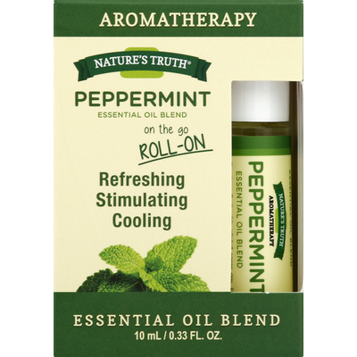 Nature S Truth Organic Essential Oil Blend Peppermint On The Go Roll On 0 33 Oz Instacart