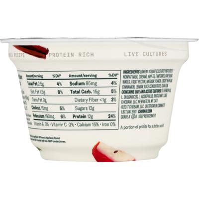 Chobani Low-Fat Greek Yogurt Apple Cinnamon Blended