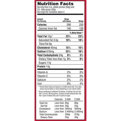 Tgif Honey BBQ Chicken Wings Value Size Frozen Snacks