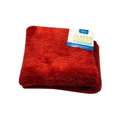Interiors by Design Red Microfiber Bath Rug