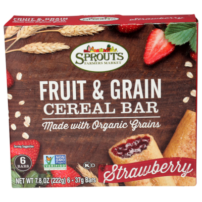 Sprouts Strawberry Cereal Bars
