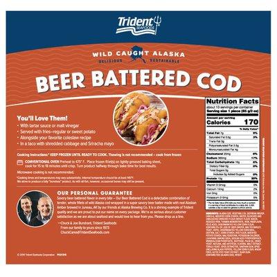 Trident Seafoods Wild Alaskan Beer Battered Cod