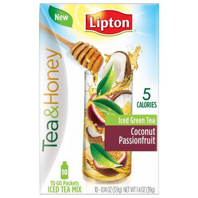 Lipton Coconut Passionfruit Iced Green Tea To-Go Packets