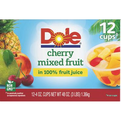 Dole Cherry Mixed Fruit, in 100% Fruit Juice