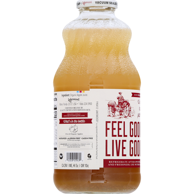 Lakewood Juice, Organic, Pure Apple, Fresh Pressed